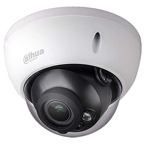 Dahua 4MP Dome IP Camera IPC-HDBW4433R-ZS Varifocal IP PoE Camera 2.7mm~13.5mm Lens Motorized Optical Zoom Outdoor Indoor Security Camera Dome with 50m IR Night Vision H.265 IK10 ONVIF IP67