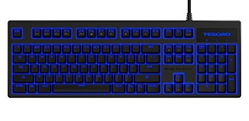Tesoro Brown Mechanical Switch Blue LED Backlit Illuminated...