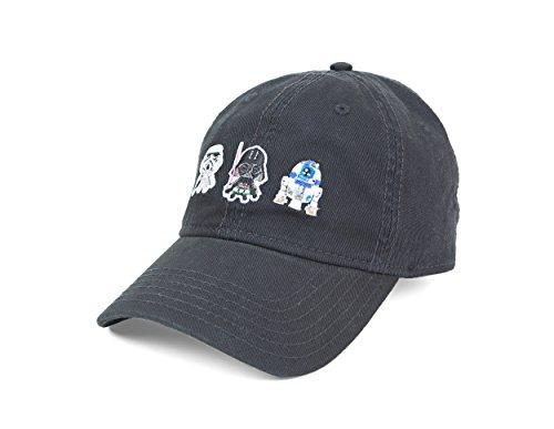 Star Wars Stormtrooper, Darth Vader, & R2-D2 Adjustable Strap Baseball Cap (R2d2 Hat)