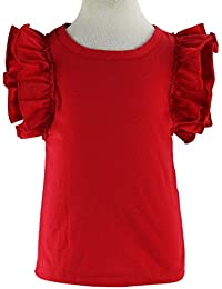Little Girls' Double Ruffle Solid Tank Top