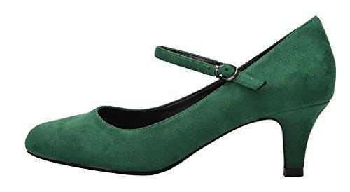 Platform Pumps Heel Velvet Versatile Shoes Dress Sexy Strap Women Green Stiletto Ankle Low Shoes For ZZvqBwS