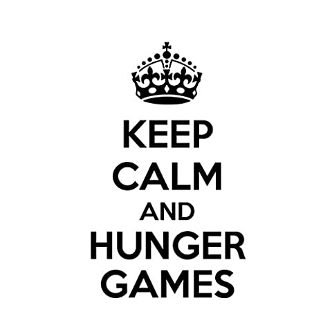 KEEP CALM AND HUNGER GAMES Car Laptop Wall Sticker (The Hunger Games Laptop Decal)