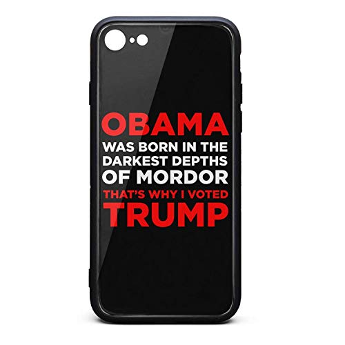 (Obama Trump 2020 Red Tempered Glass Phone Case for iPhone 6/6S Unisex Hippie Shock Absorbent Back Cover Skin )