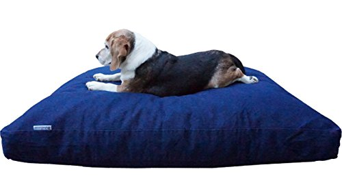 Dogbed4less XL Memory Foam Dog Bed Pillow with Orthopedic Comfort + Waterproof Liner and Durable Pet Bed Denim Cover 40