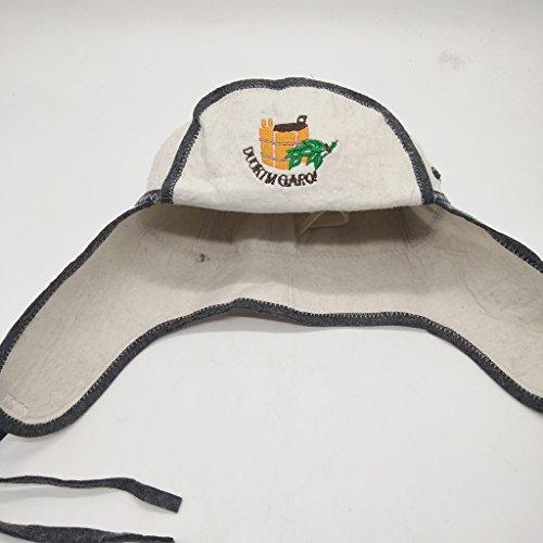 Lovoski サウナ帽子 ウール 頭の保護 刺繍 ユニセックス 耐久性  バンヤハット