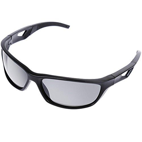 Zacro Polarized Sports Sunglasses UV400 Protection Unbreakable Sports Glasses with TR90 Unbreakable - Aux Sunglasses