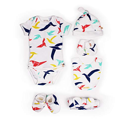 Baby Essential Layette Gift Set for Baby Boys or Girls Ideas or Registry Gifts 6 Pieces (0-3 Months)