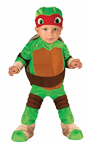 Nickelodeon Ninja Turtles Raphael Romper Shell and Headpiece, Green, Infant (6-12 Months ) -