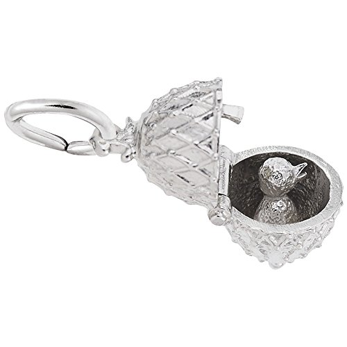 sterling silver charms chicken - 9