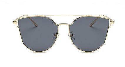 Skudy Gafas de sol marco de metal, gafas de sol para niña ...