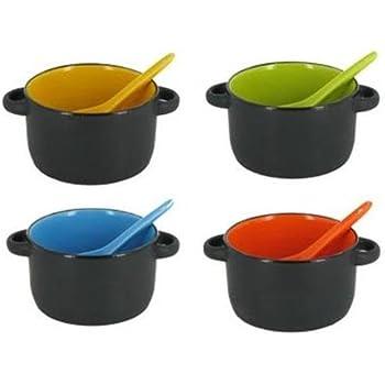 Amazon Com Kovot Set Of 4 Speckled Ceramic Soup Bowls