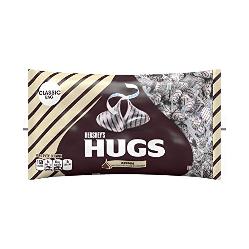 HERSHEY'S Chocolate Candy Kisses, Hugs, 12 Ounce Bag (Pack of - Chocolate Hugs