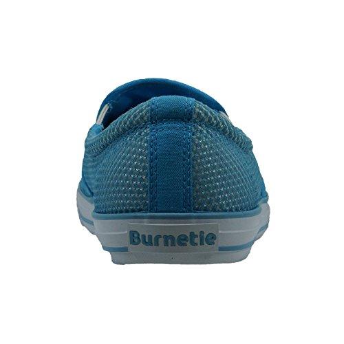 Burnetie Mens Blå Kompakt Ll Mesh Gymnastiksko