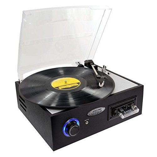 Amazon Lightning Deal 57% claimed: Pyle-Home PTTC4U Multifunction Turntable with MP3 Recording USB-to-PC and Cassette Playback