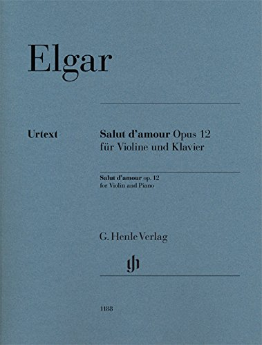 Elgar: Salut d'amour, Op. 12 for Violin and - Amour Book Music