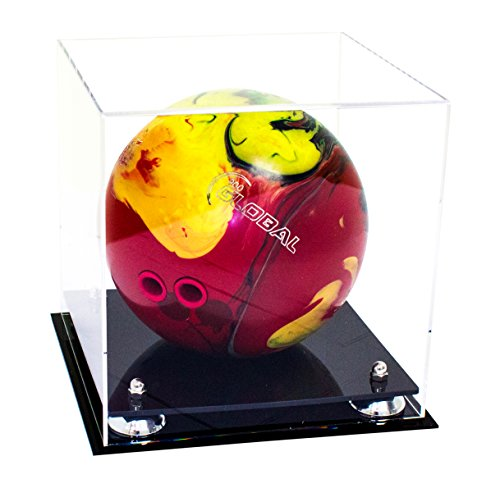 Deluxe Clear Acrylic Bowling Ball Display Case with Silver Risers (A028-SR)