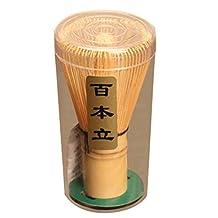 Salesland 1pcs Japanese Ceremony Bamboo Chasen Green Tea Whisk for Preparing Matcha Powder
