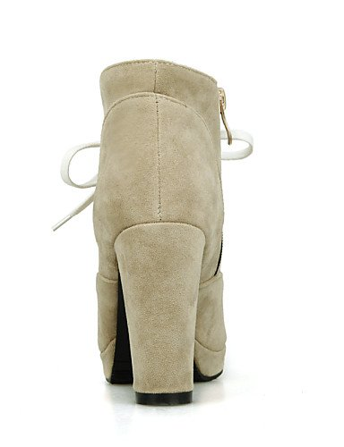 Xzz Negro Zapatos Redonda Vestido U Black 5 A Tacón Uk7 Punta Black 5 us9 Moda Ante La Robusto us6 8 Mujer Botas 10 De Eu36 Uk4 Beige Eu41 Sintético Casual Cn36 Cn42 rrqYwdZ