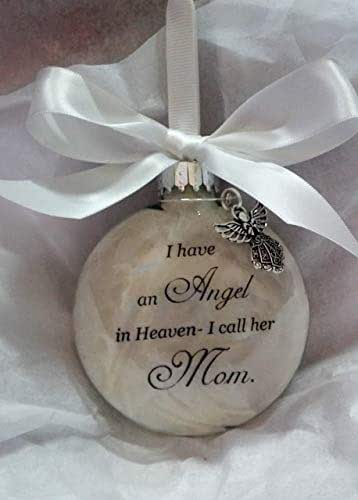 Memorial Christmas Ornament Sympathy Gift Angel in Heaven I Call Her Mom