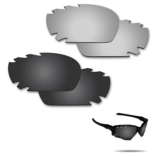 Fiskr Anti-saltwater Polarized Replacement Lenses for Oakley Jawbone Vented Racing Jacket Sunglasses 2 Pairs - Polarized Lenses Define