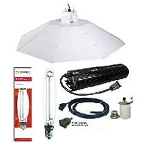ACE- Plantmax 1000 W High Pressure Sodium Bulb- Parabolic Chrome Reflector 4 ft Complete Kit