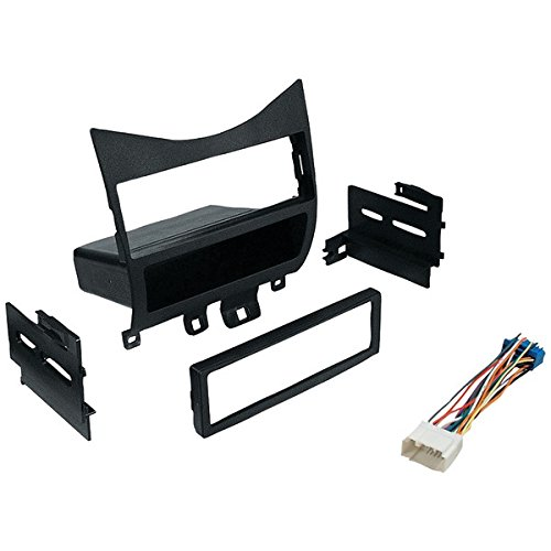 BEST KITS BKHONK823H In-Dash Installation Kit (Honda® Accord 2003 & Up with Harness, Radio Relocation to Factory Pocket Single-DIN) (Relocation Harness)
