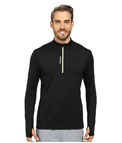 Reebok Running Essentials Long Sleeve 1/4 Zip Pullover 2XL Black