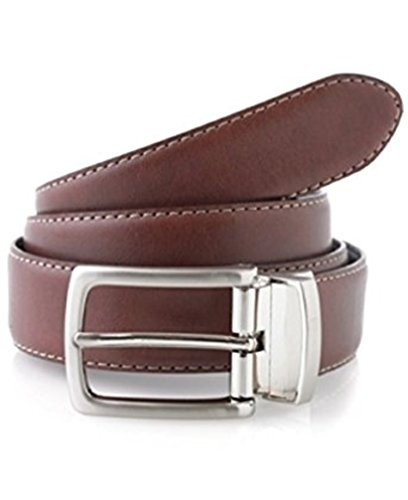 Club Room Mens Bonded Leather Reversible Casual Belt Tan 32 - Room Belt Reversible Club