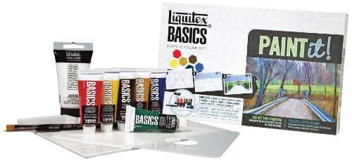 Basic Color Kit - Liquitex 101084 Basics Acrylic Paint-It! Kit