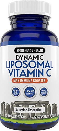 Liposomal Vitamin C 1500mg – 120 Capsules – Advanced Formula – Non-GMO Sunflower Lecithin – High Absorption & Fat…