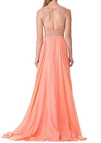 Brautmutterkleider Neu Abendkleider Spitze Promkleider Damen Orange Langes Hell Elegant Orange Partykleider Charmant Hell Av84xw6A
