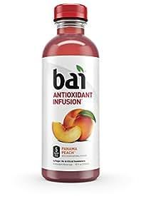 Bai Panama Peach, Antioxidant Infused Beverage, 18 Fl. Oz. Bottles (Pack of 6)
