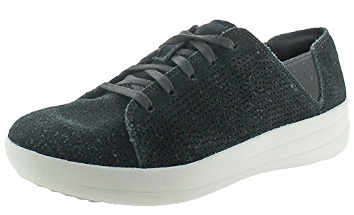 F Black Perforated Sporty Fitflop Women's Trainers 0Aqaxf5w