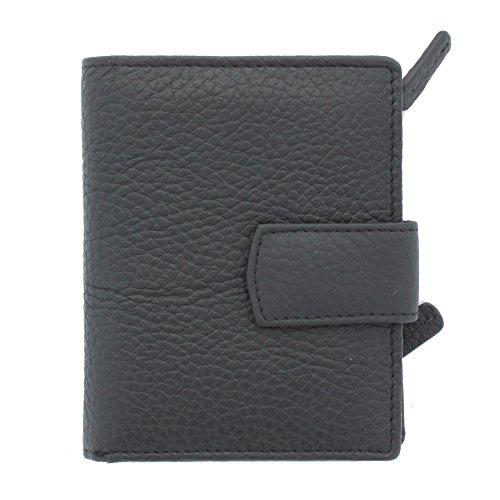 Women Fashion Leather Bifold Wallet (Black) - 3