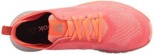 Reebok Womens Print Smooth Clip Ultk Track Shoe Guava Punch / Pesca Torsione / Cuoio