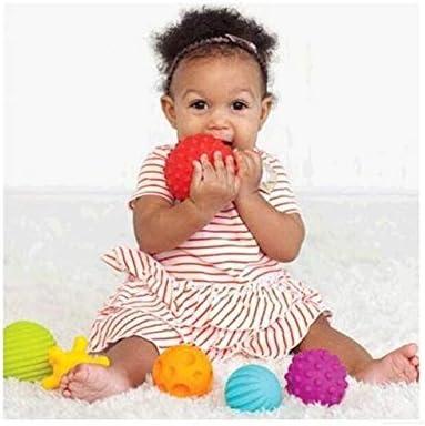 XuBa - Juego de 4 pelotas blandas para bebé (sonajero, juguete ...