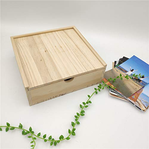 Lidded Storage Box Wooden Box With Two Grids For Photography Gift