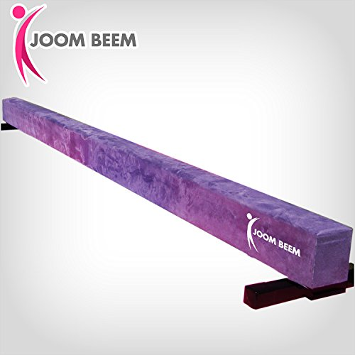 Joom Beem Purple Non-Folding Competition Style 8Ft Suede Balance Beam Low Profile