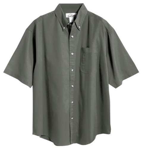 Tri-mountain Mens 60/40 stain resistant short sleeve twill shirt. 768 - MOSS_L (Short Sleeve Twill Shirt)