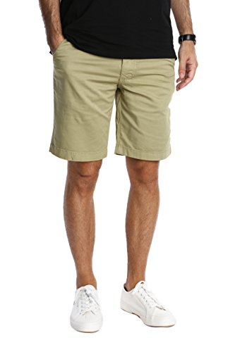 Pembrook Men's Casual Shorts n Shorts - 36 Khaki - Flat Front Classic ()