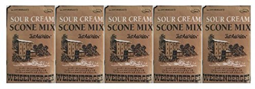 Weisenberger Mills Sour Cream Scone Mix- A Ky Proud Product 8 Oz Ea 5 (Sour Cream Muffins)