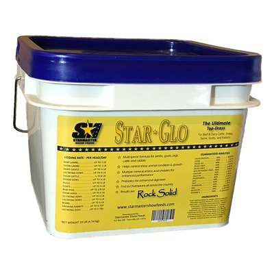 STAR GLO Ultimate Top Dress for Show Animals. Helps Optimize Growth and Condition. Multi-species Formula Fortified with Vitamins, Minerals & Amino Acid Chelates. All-Natural. Made in USA. 10-lb Pail. by STAR GLO