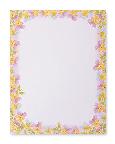 Painted Violets Stationery (Stationery Studio Spring)