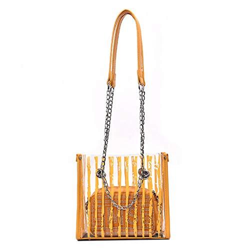 SOMESUN Female Girl Backpack Jacquard Messenger Bag Fashion College Shoulder Bag Stripe Solid Cute Portable - Jacquard Messenger