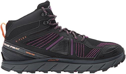 Altra Lone Peak 3.5 Mid Mesh Damesloopschoen Wandelen, Fastpacking, Trail Running | Zero Drop Platform, Footshape Teen Box, Fit4her Dames-specifiek Ontwerp | Voorbereid Op Elk Spoor Paars / Oranje