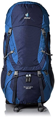 Deuter Aircontact Backpack (All Sizes, Colors) (Midnight/Ocean, 65+10)