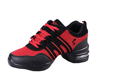 shoes Shoes woman Hip Red Dance sneakers women and Black Hop Jazz for XqqdwR