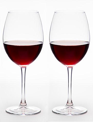 Premium Collection Large Bourdeux Wine Glasses, 20 oz - Set of 2 (Cheap Wine Glass Sets)