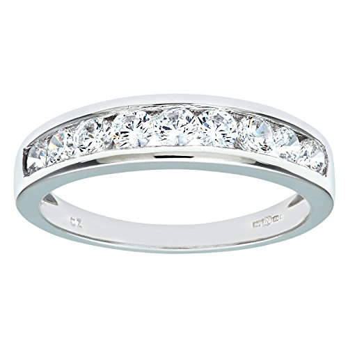 Citerna 9 ct White Gold Eternity Ring with Channel Set Cubic Zirconia CWm5Dko
