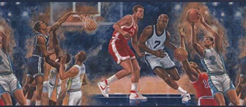 IR2722B Vintage Basketball Game Wallpaper Border 10.25